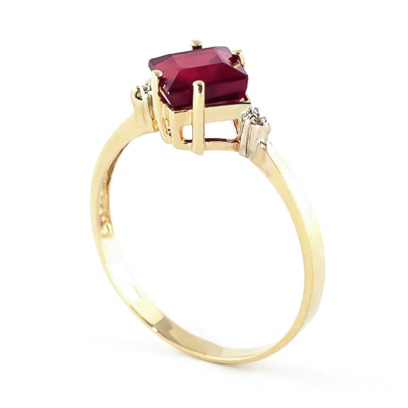 Ruby and Diamond Ring 1.45ct in 9ct Gold