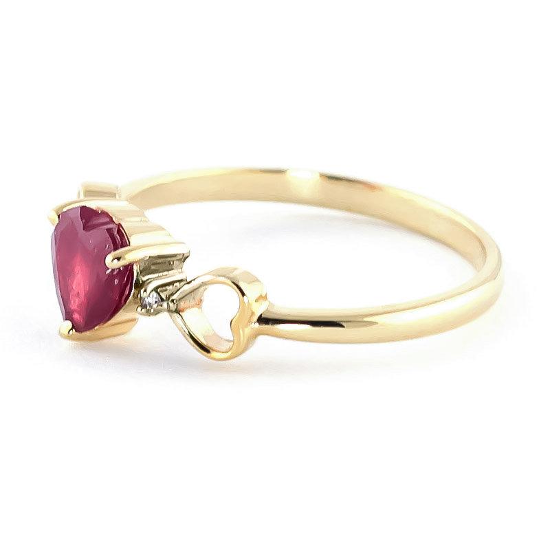Ruby and Diamond Trinity Ring 1.0ct in 9ct Gold