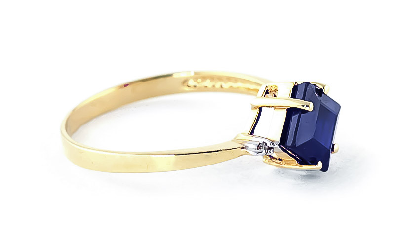 Sapphire and Diamond Ring 1.45ct in 9ct Gold