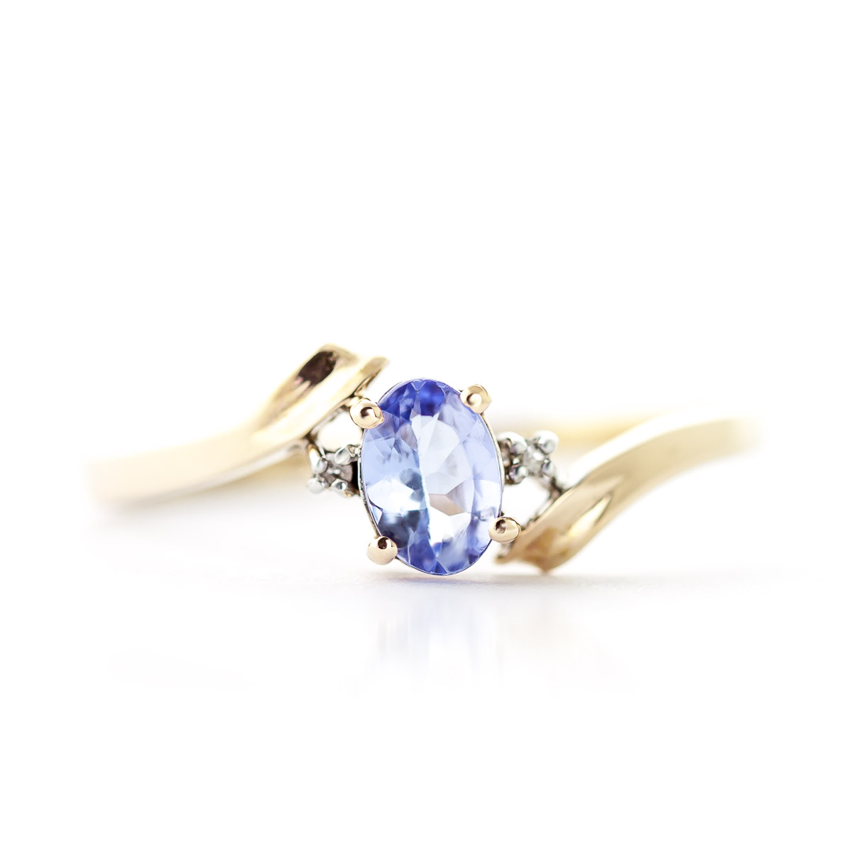 Tanzanite and Diamond Embrace Ring 0.45ct in 9ct Gold