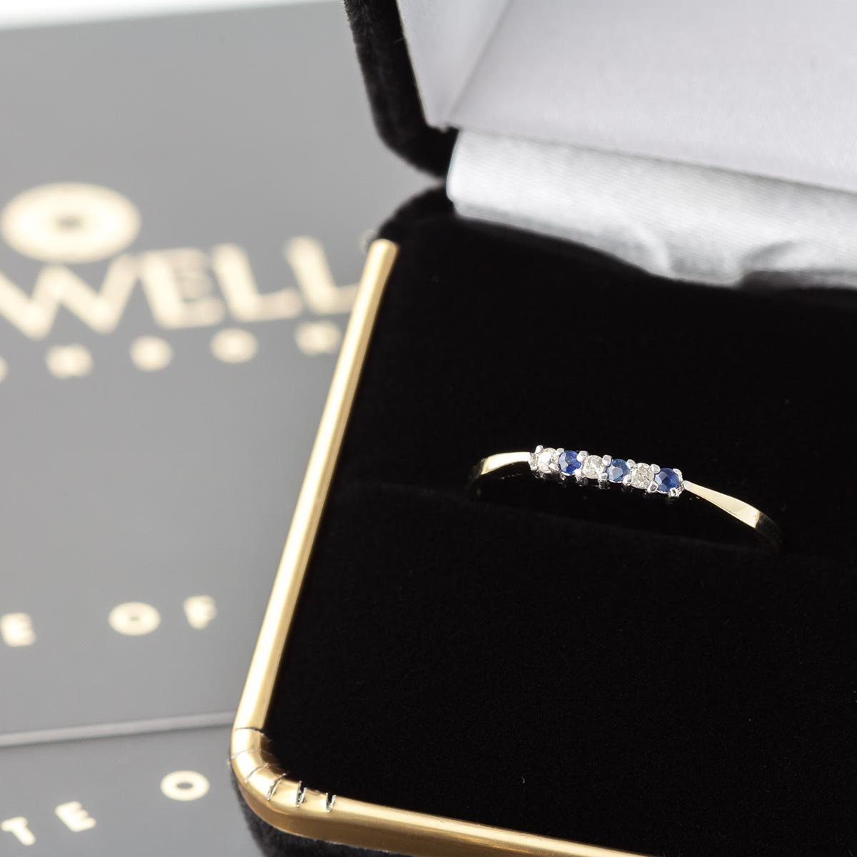 Diamond and Sapphire Ring in 9ct Gold