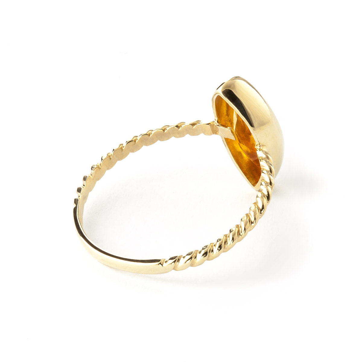 Marquise Cut Citrine Ring 1.7 ct in 9ct Gold