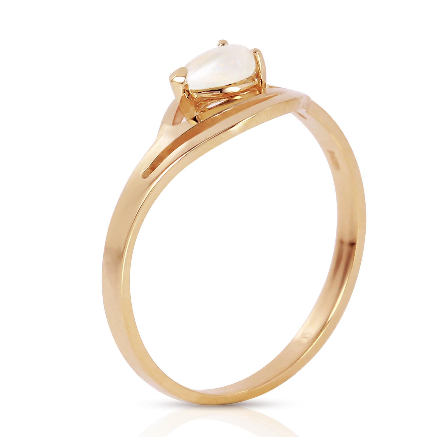 Opal Pear Strand Ring 0.15 ct in 9ct Gold