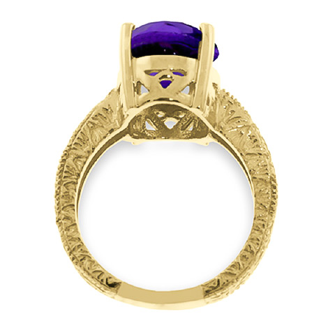 Oval Cut Amethyst Ring 7.5 ct in 9ct Gold