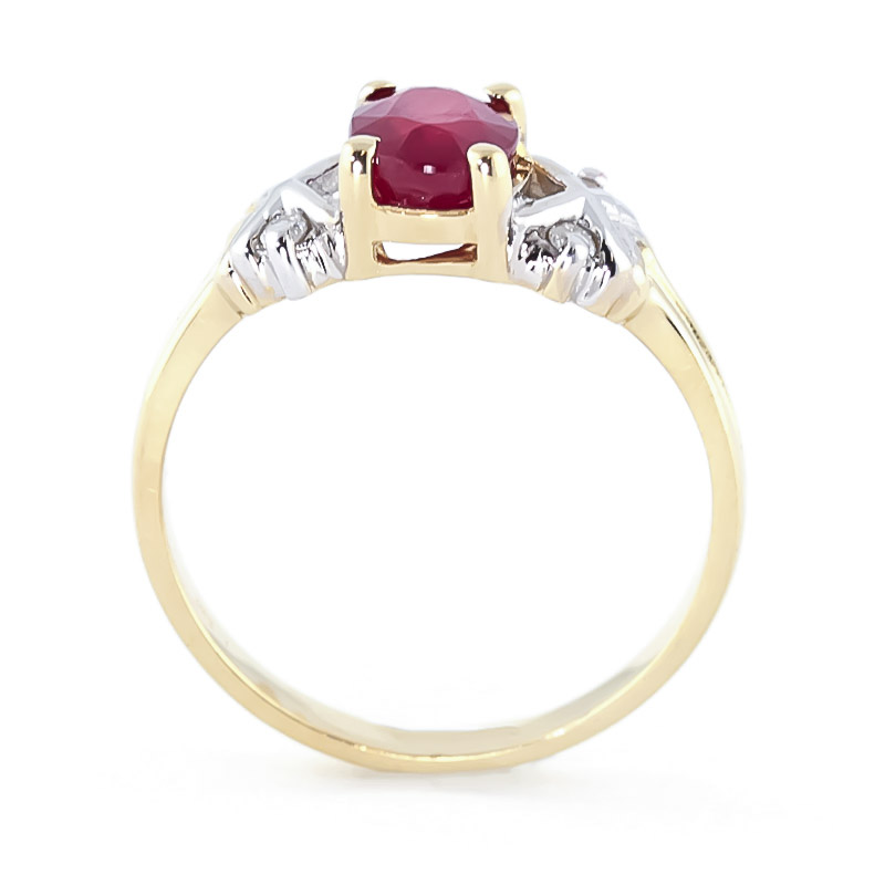Oval Cut Ruby Ring 1.47 ctw in 9ct Gold