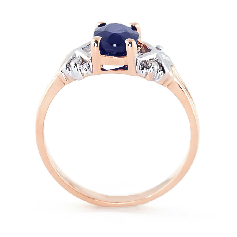 Oval Cut Sapphire Ring 1.47 ctw in 9ct Rose Gold