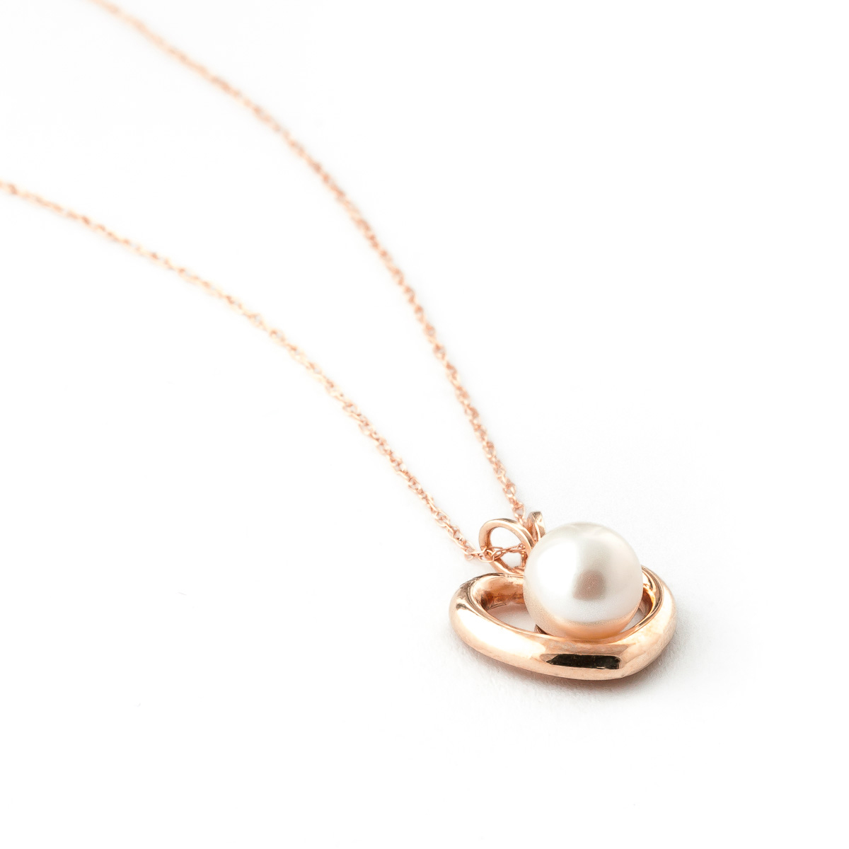 Pearl heart pendant necklace 2 ct in 9ct rose gold 5379r qp pearl heart pendant necklace 2 ct in 9ct rose gold aloadofball Image collections