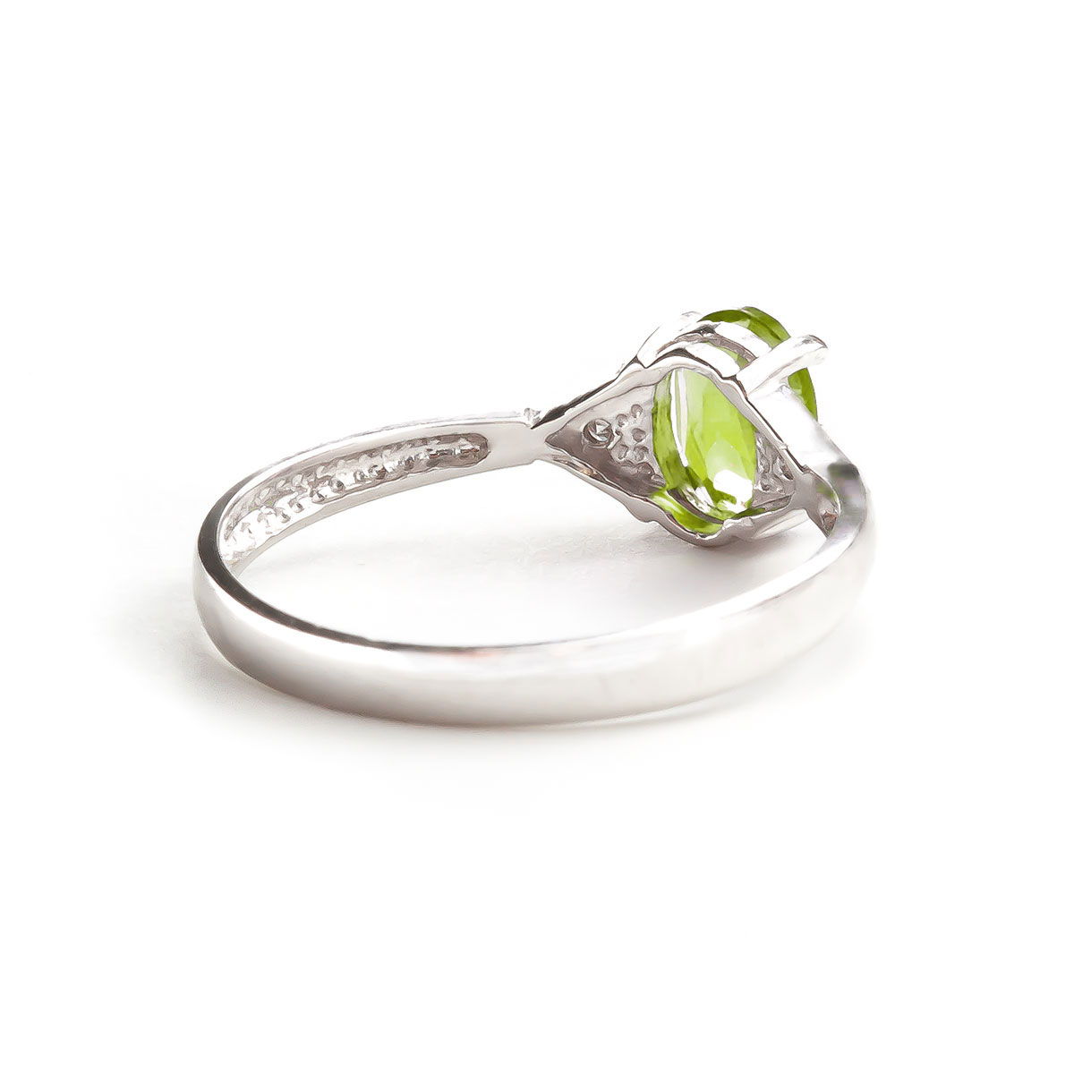Peridot & Diamond Allure Ring in 9ct White Gold