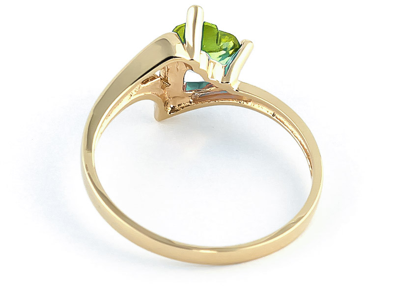 Peridot Devotion Ring 0.6 ct in 9ct Gold