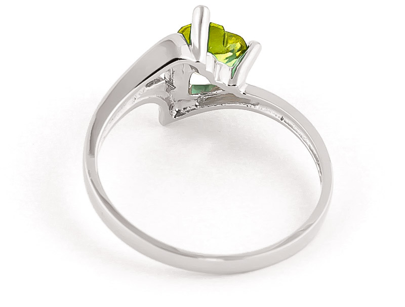 Peridot Devotion Ring 0.6 ct in 9ct White Gold