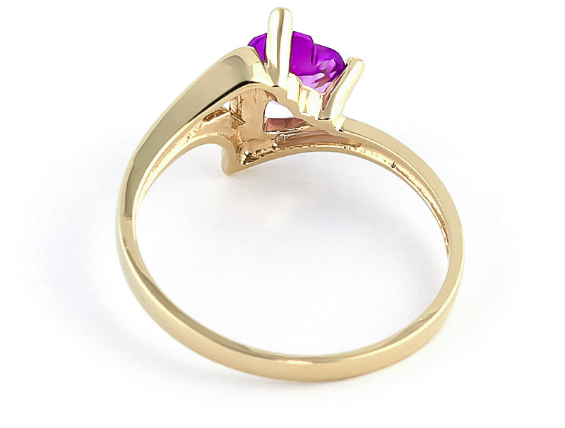 Pink Topaz Devotion Ring 0.95 ct in 9ct Gold