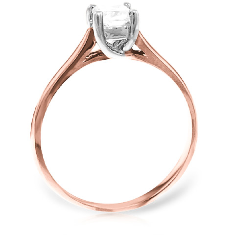 Princess Cut Diamond Solitaire Ring in 9ct Rose Gold