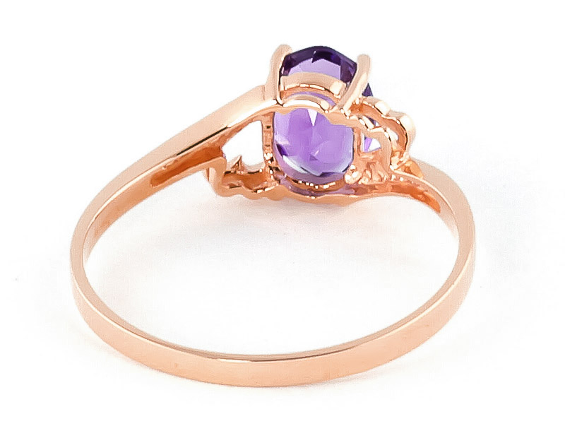 Amethyst Classic Desire Ring 0.75ct in 9ct Rose Gold