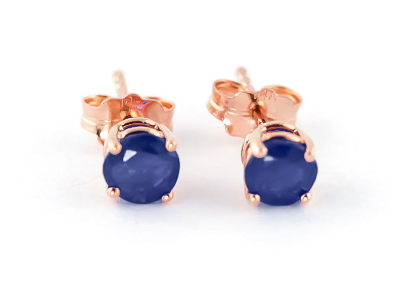 Sapphire Stud Earrings 0.95ctw in 9ct Rose Gold