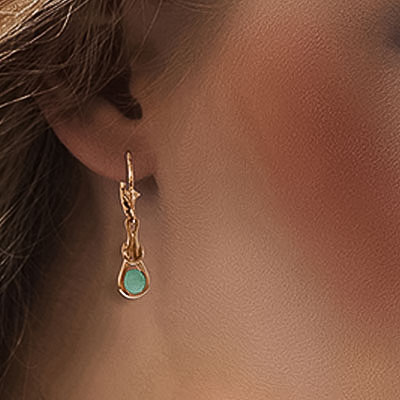 Emerald San Francisco Drop Earrings 1.3ctw in 9ct Rose Gold