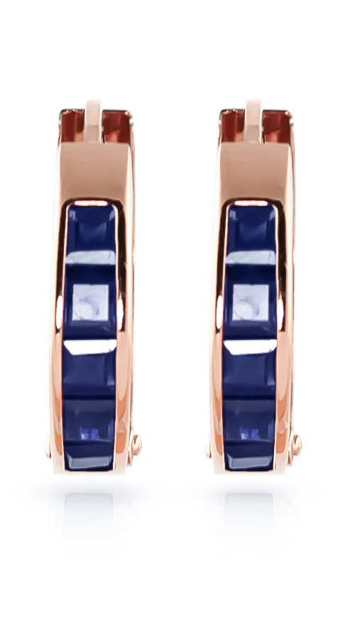 Sapphire Huggie Earrings 1.3ctw in 9ct Rose Gold