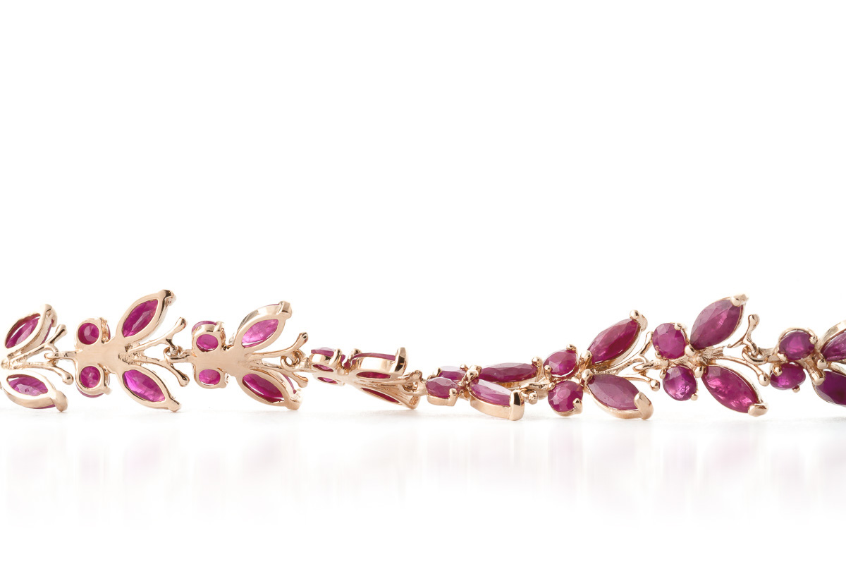 Ruby Butterfly Bracelet 16.5ctw in 9ct Rose Gold