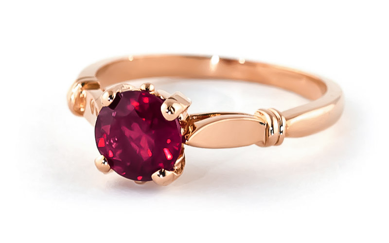 Round Brilliant Cut Ruby Solitaire Ring 2.0ct in 9ct Rose Gold