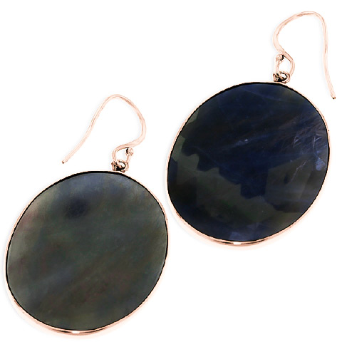 Sapphire Drop Earrings 40.0ctw in 9ct Rose Gold