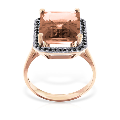 Citrine and Diamond Halo Ring 5.6ct in 9ct Rose Gold