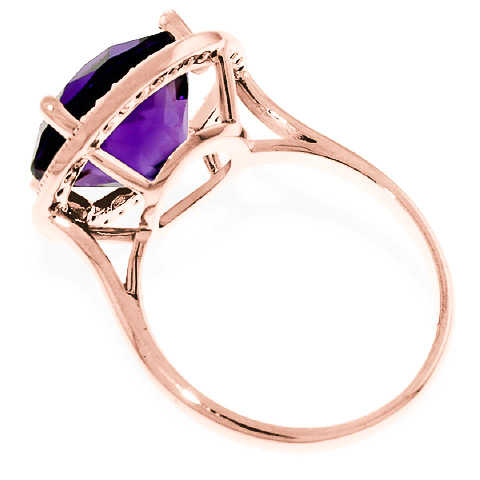 Amethyst and Diamond Halo Ring 6.0ct in 9ct Rose Gold