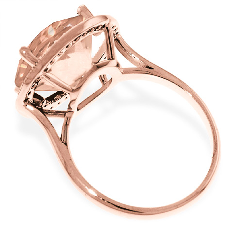 Citrine and Diamond Halo Ring 6.0ct in 9ct Rose Gold