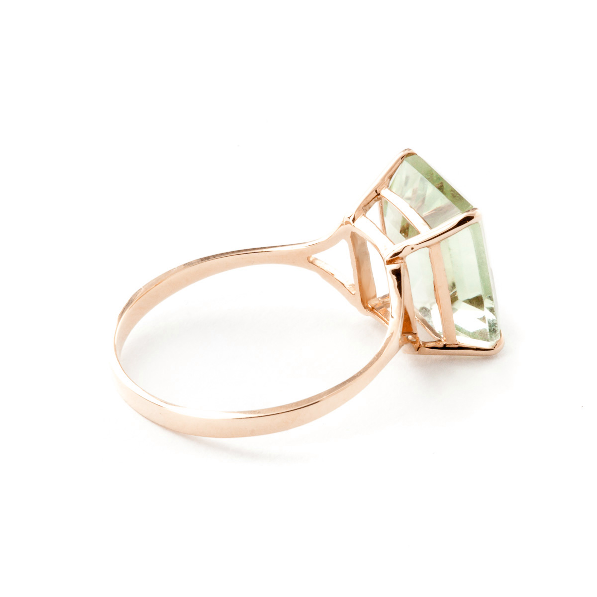 Green Amethyst Ring 6.5ct in 9ct Rose Gold