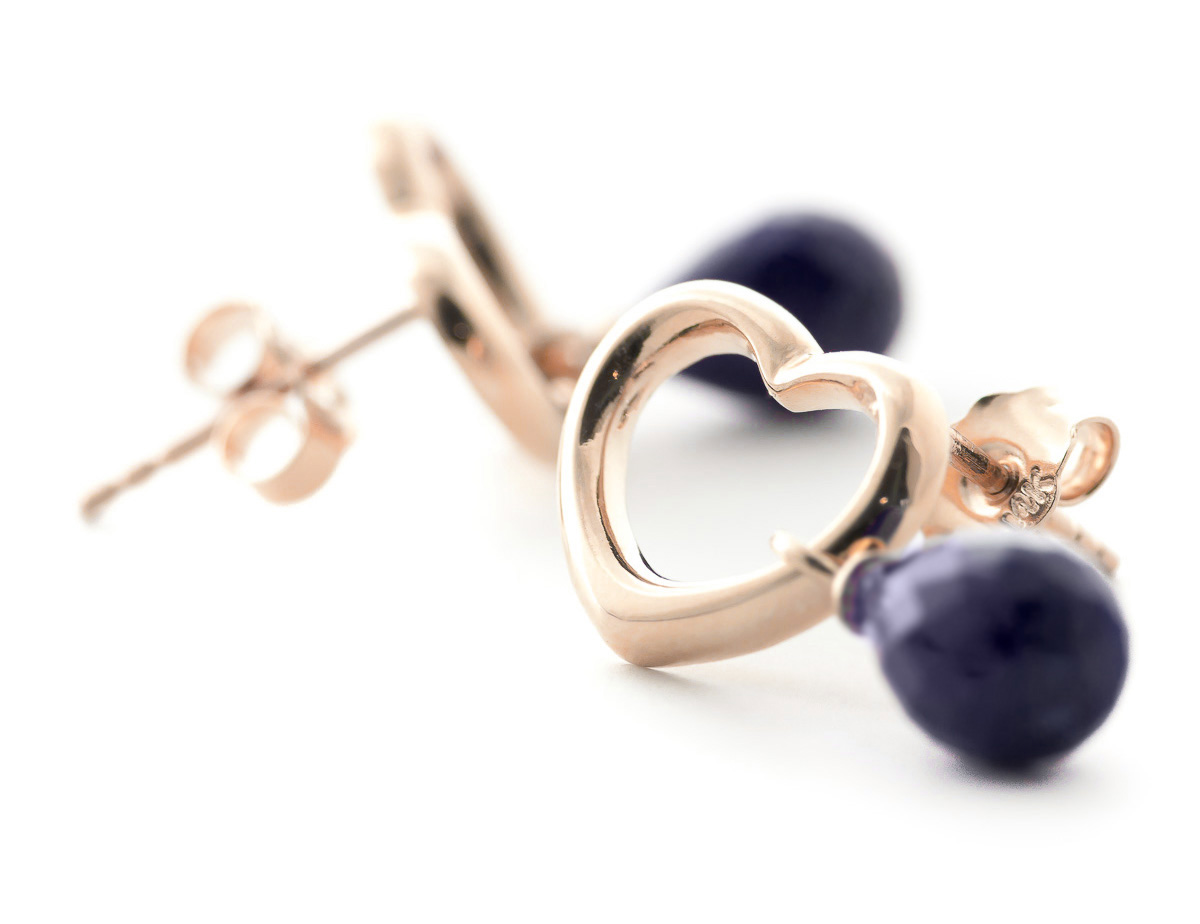 Sapphire Stud Earrings 6.6ctw in 9ct Rose Gold