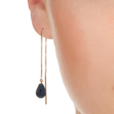 Sapphire Scintilla Briolette Earrings 6.6ctw in 9ct Rose Gold