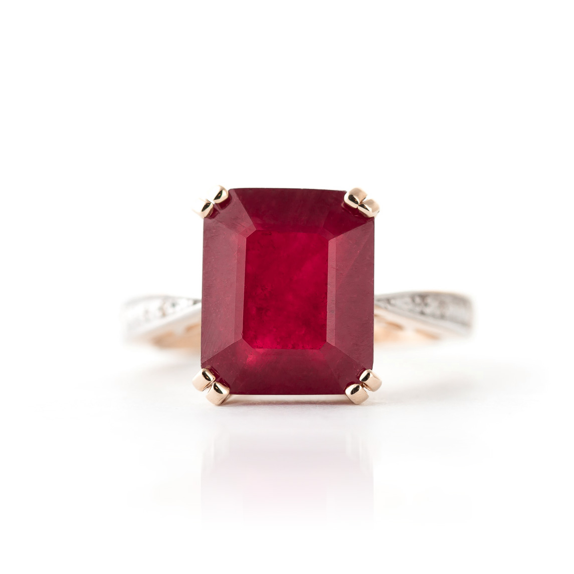 Ruby and Diamond Ring 7.25ct in 9ct Rose Gold