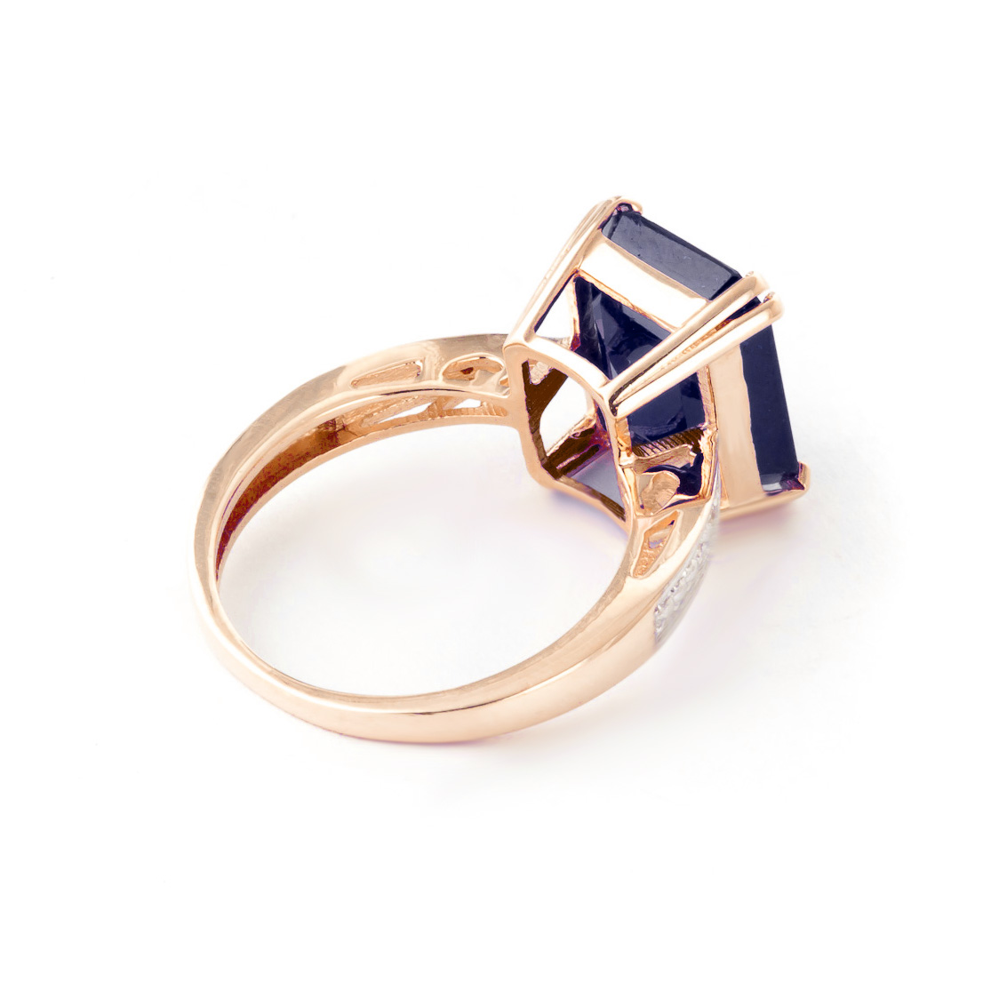 Sapphire and Diamond Ring 7.25ct in 9ct Rose Gold