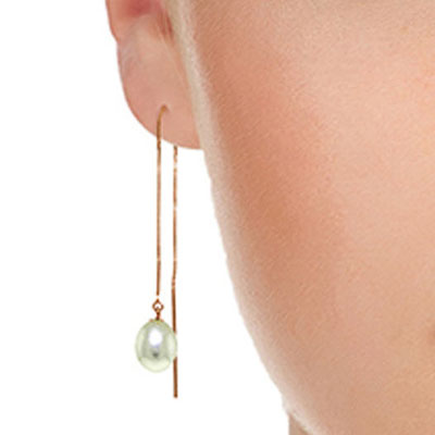 Pearl Scintilla Briolette Earrings 8.0ctw in 9ct Rose Gold