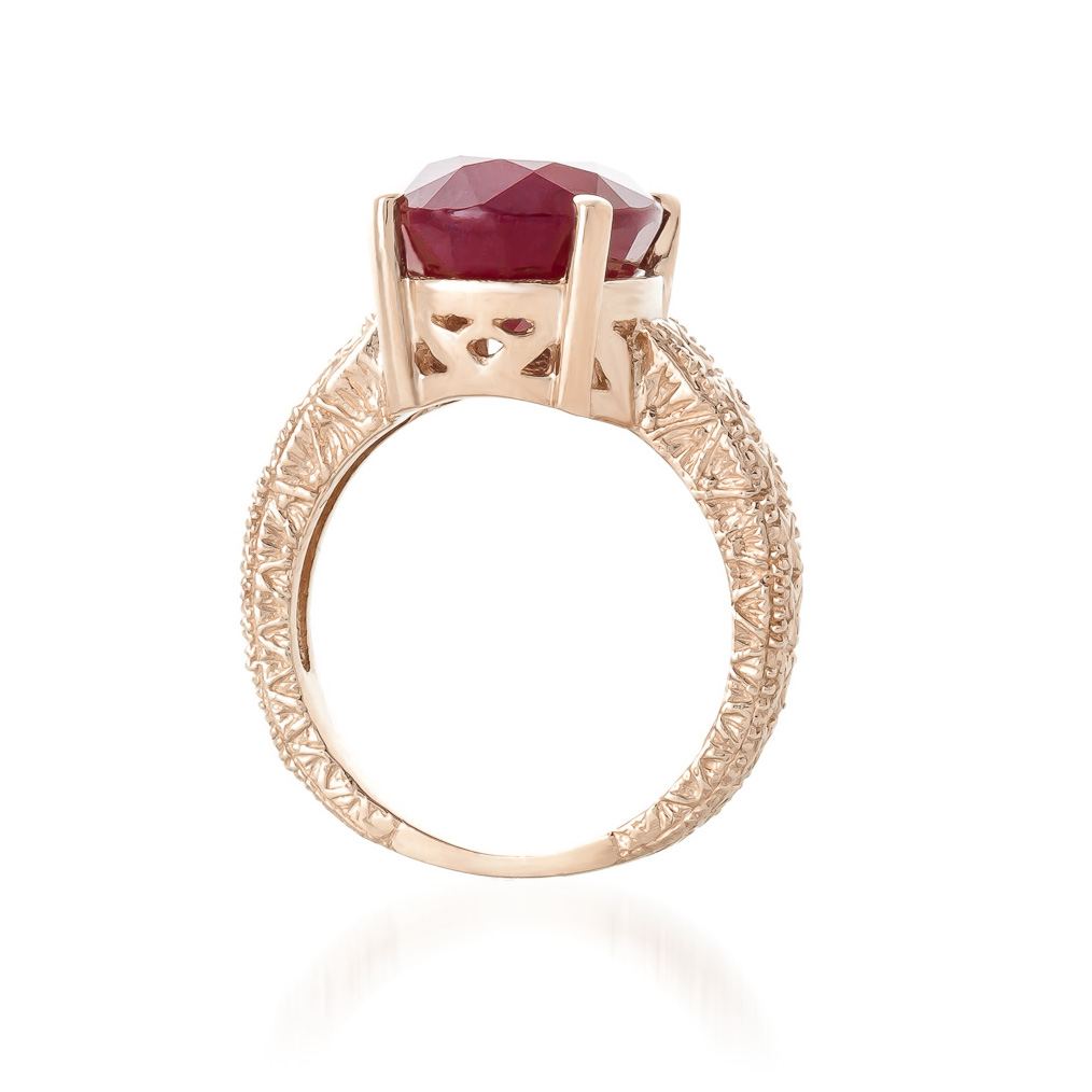 Oval Cut Ruby Ring 8.0ctw in 9ct Rose Gold