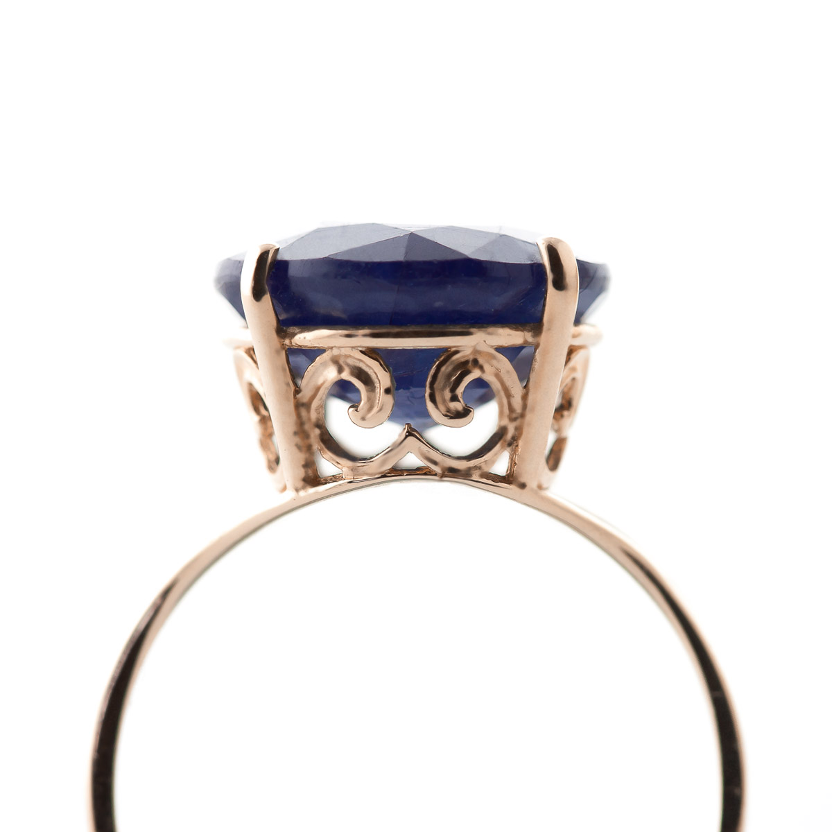 Round Brilliant Cut Sapphire Ring 9.5ct in 9ct Rose Gold