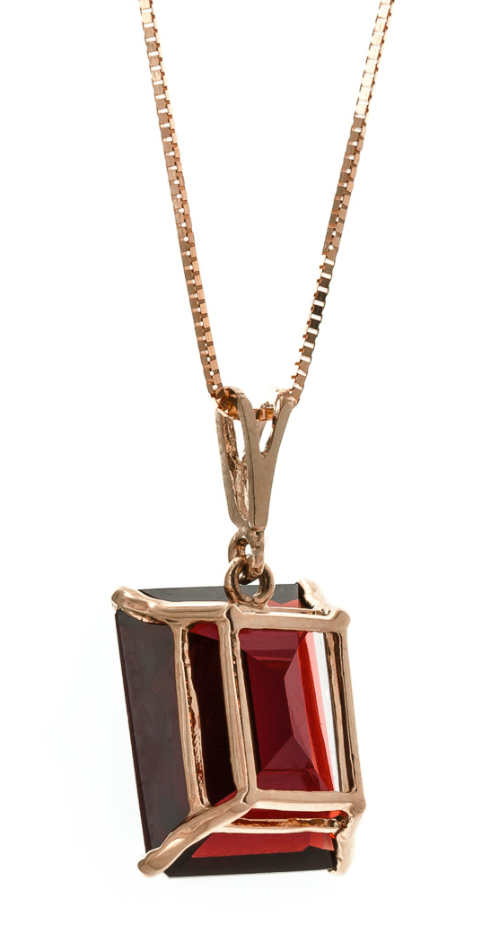 Garnet Pendant Necklace 7.0ct in 9ct Rose Gold