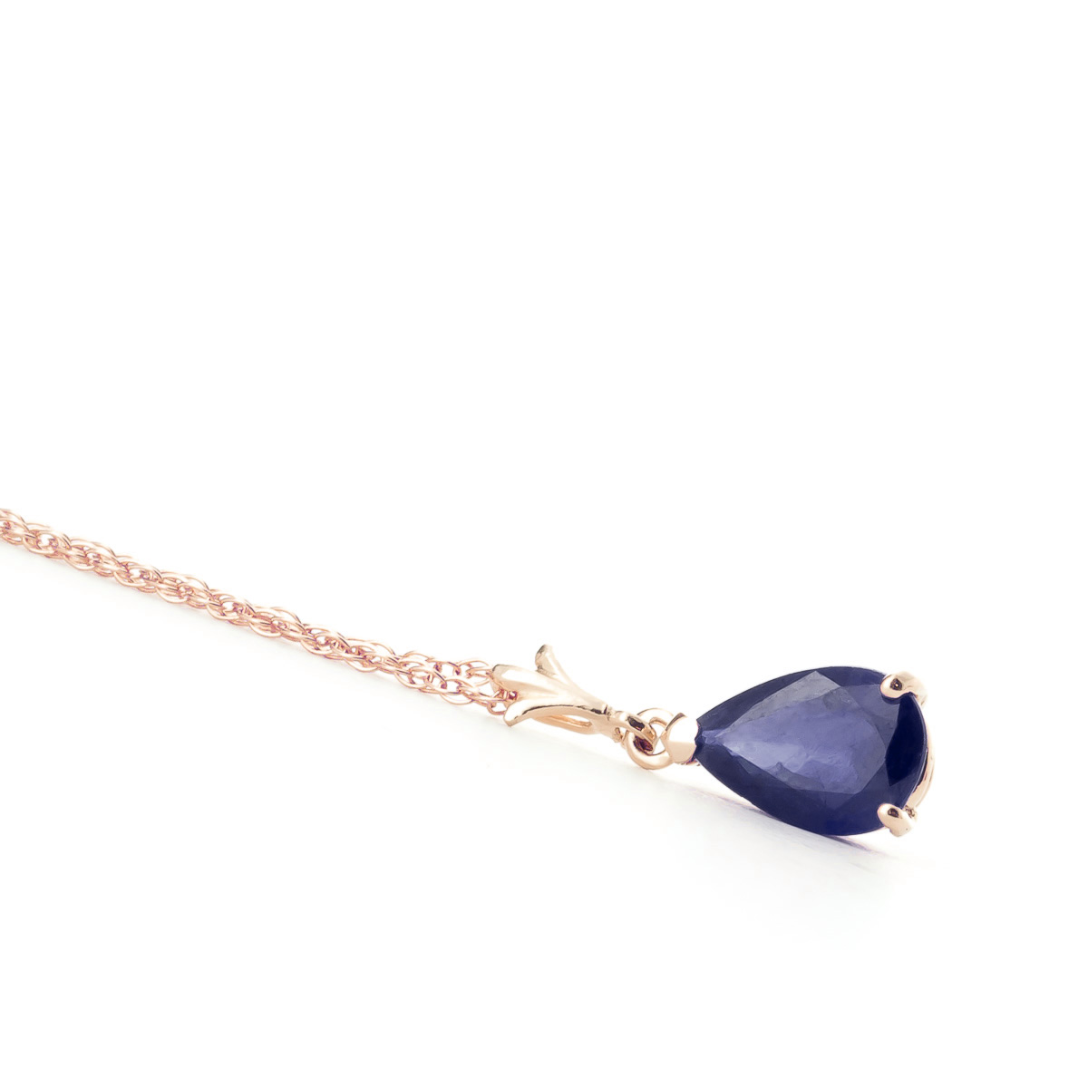 Sapphire Belle Pendant Necklace 1.5ct in 9ct Rose Gold