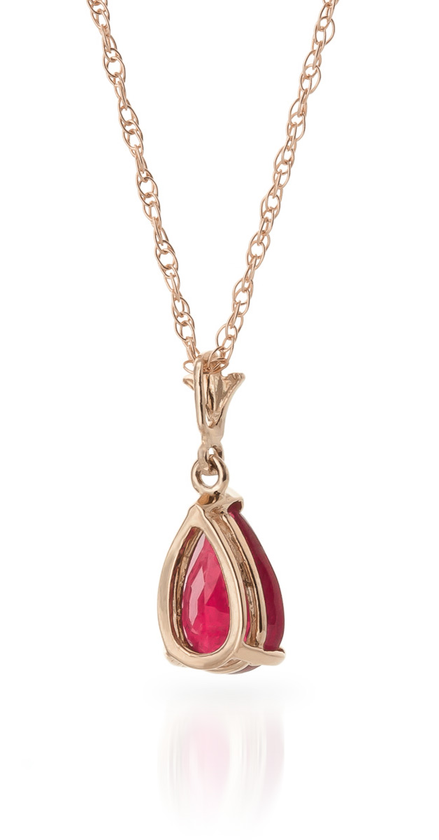 Ruby Belle Pendant Necklace 1.75ct in 9ct Rose Gold