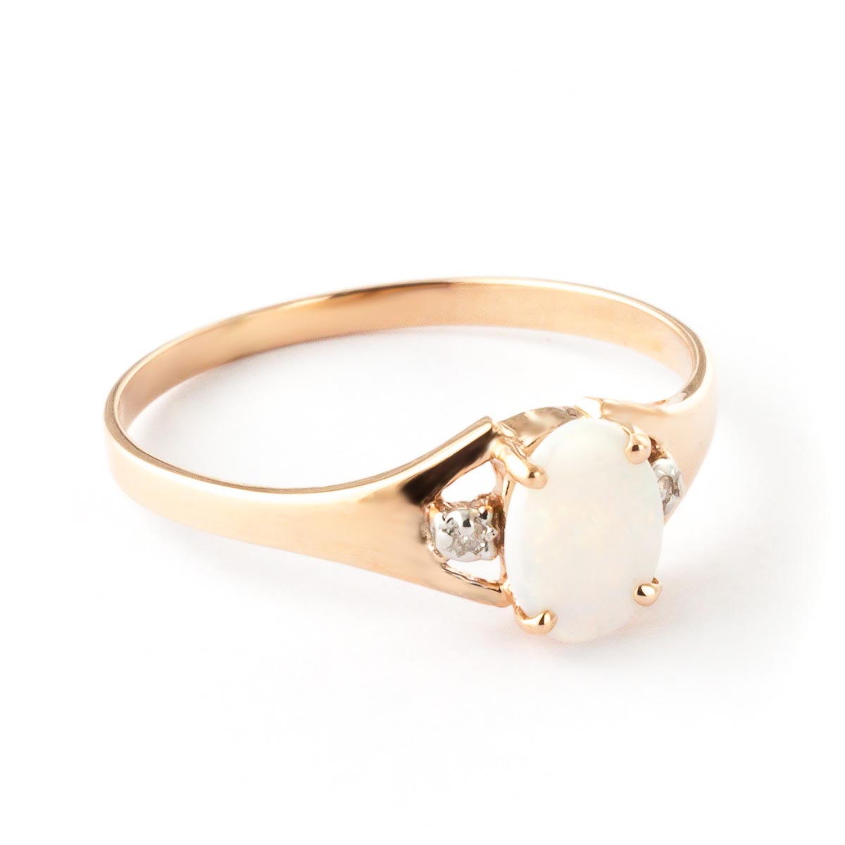 Opal and Diamond Desire Ring 0.45ct in 9ct Rose Gold