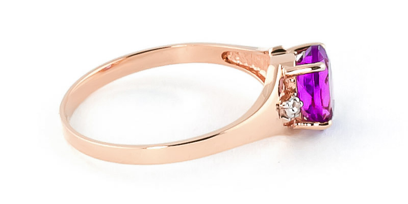 Pink Topaz and Diamond Desire Ring 0.75ct in 9ct Rose Gold