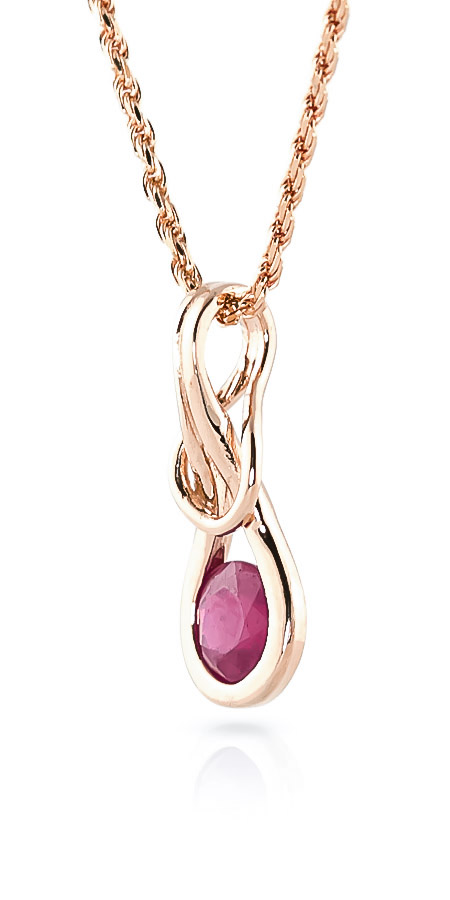Ruby San Francisco Pendant Necklace 0.65ct in 9ct Rose Gold