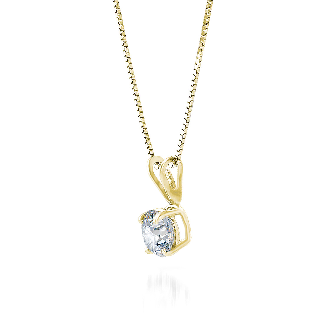 Round cut diamond pendant necklace 05 ct in 9ct gold 3840y qp round cut diamond pendant necklace 05 ct in 9ct gold aloadofball Images