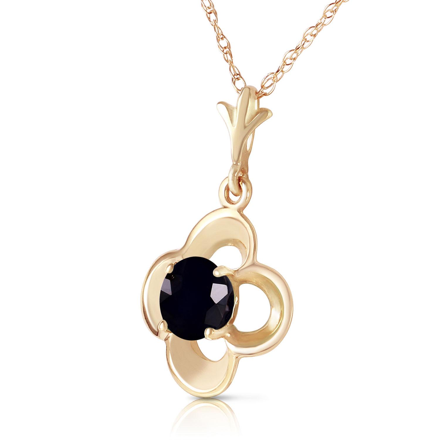 Round Cut Diamond Pendant Necklace 0.5 ct in 9ct Gold