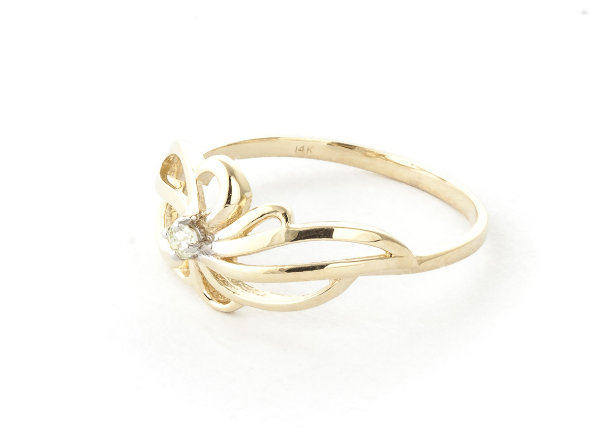 Round Cut Diamond Ring 0.05 ct in 9ct Gold