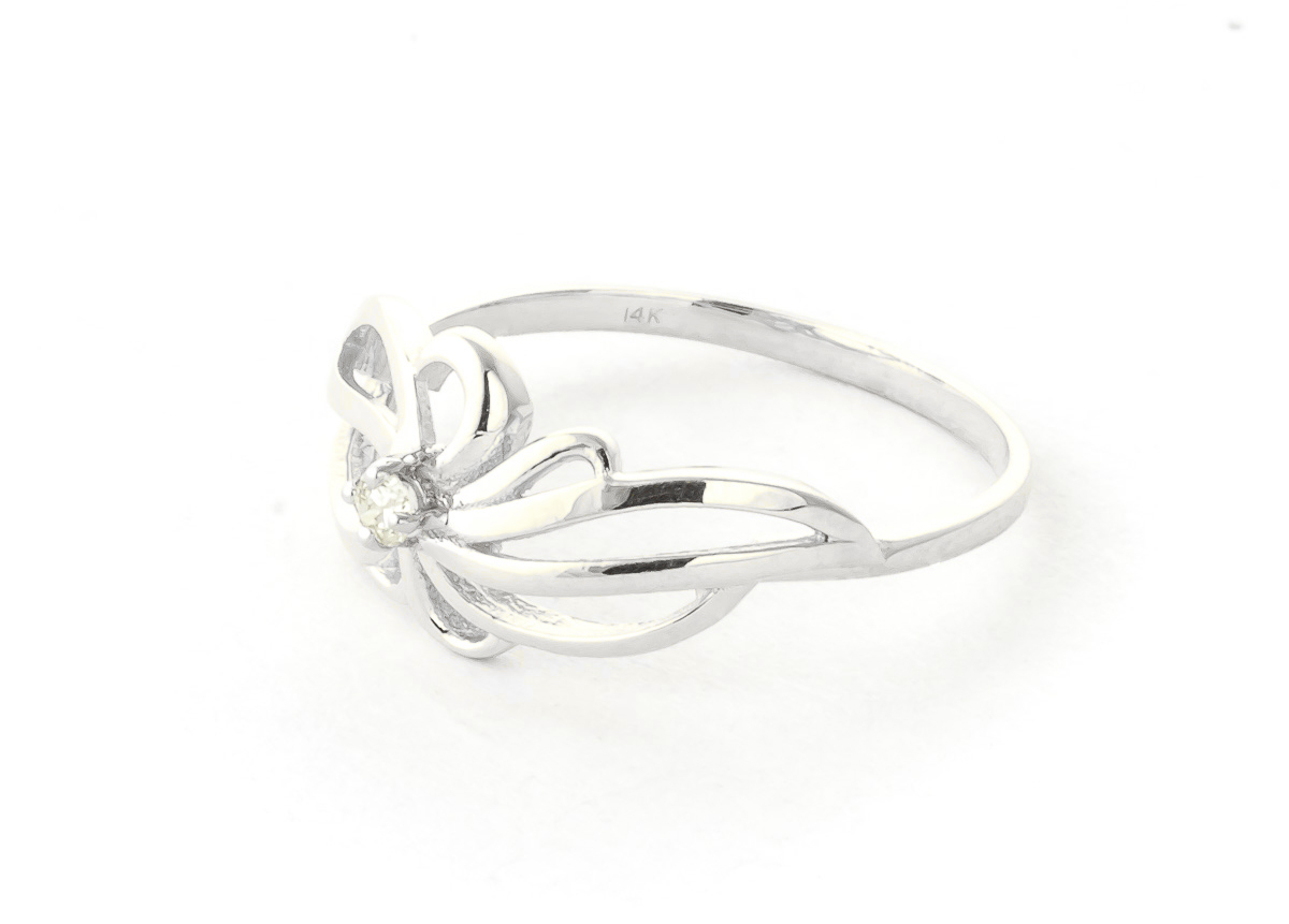 Round Cut Diamond Ring 0.05 ct in Sterling Silver