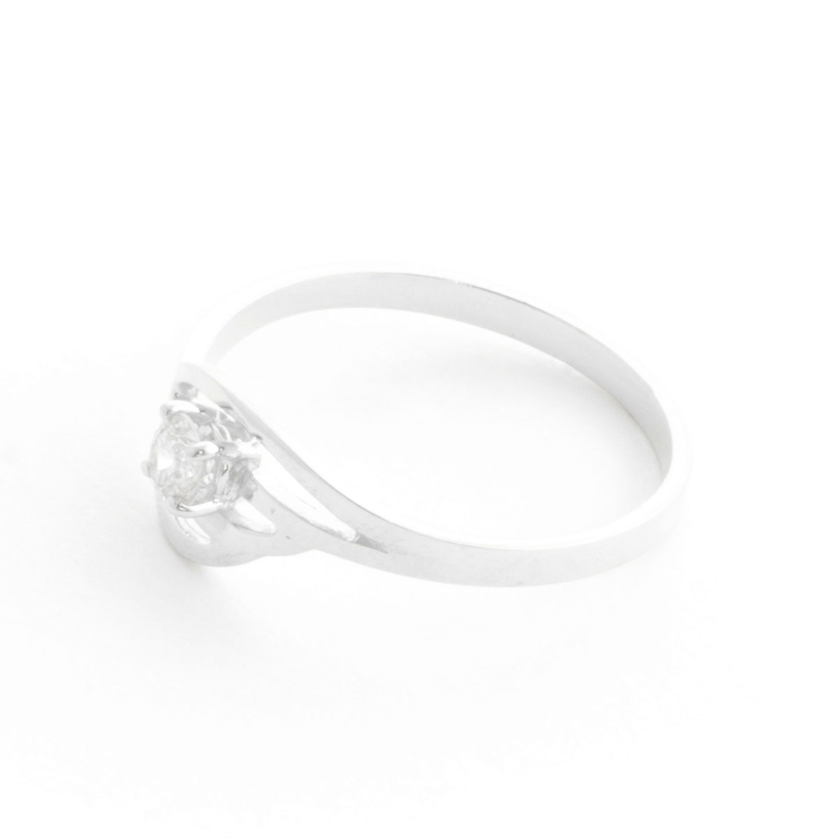 Round Cut Diamond Ring 0.15 ct in 9ct White Gold