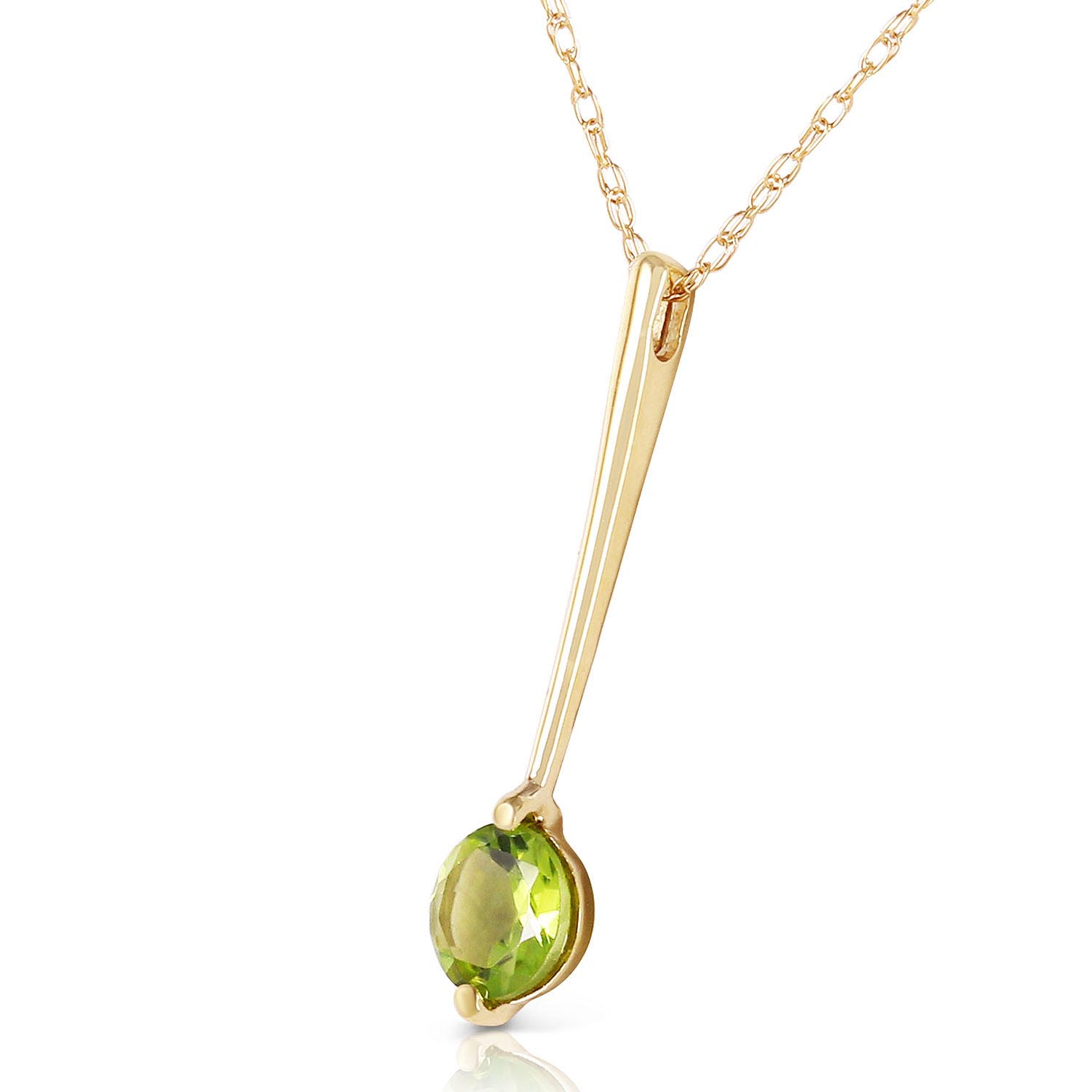 pendant item white gold necklace contemporary peridot jewelry
