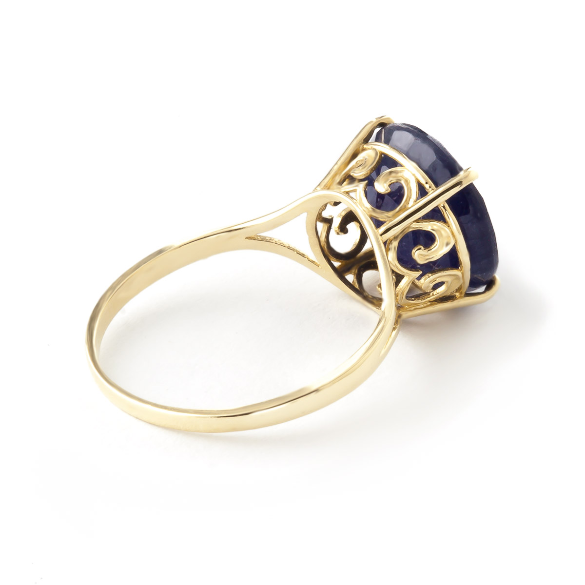 Round Cut Sapphire Ring 9.5 ct in 9ct Gold