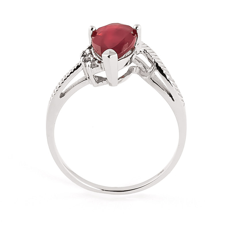 Ruby & Diamond Belle Ring in 9ct White Gold