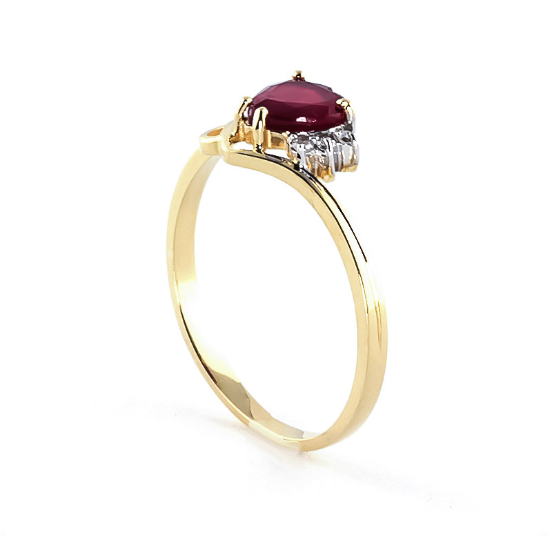Ruby & Diamond Devotion Ring in 9ct Gold