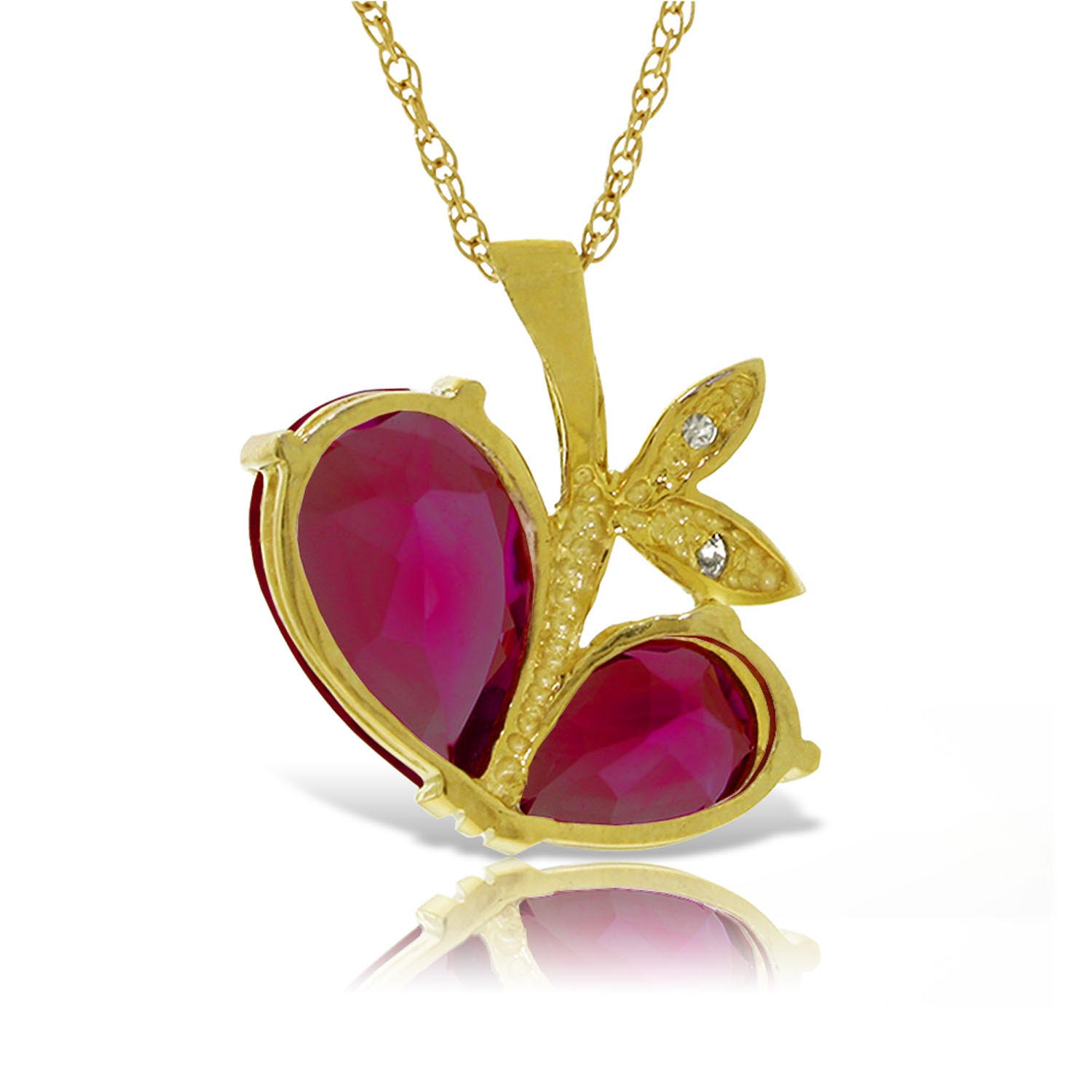 Ruby & Diamond Eternal Pendant Necklace in 9ct Gold